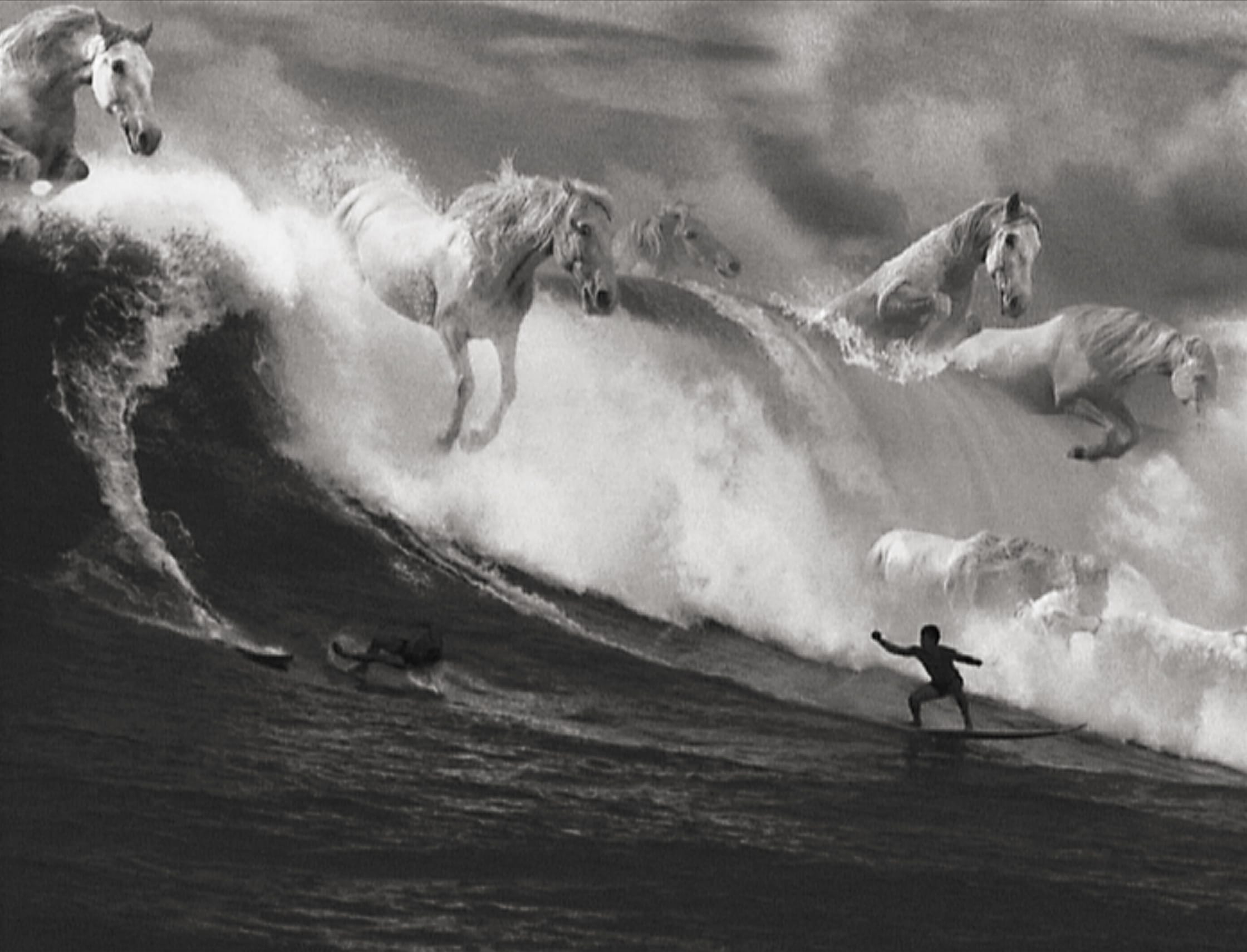 Still from Guinness Surfer Advertisement