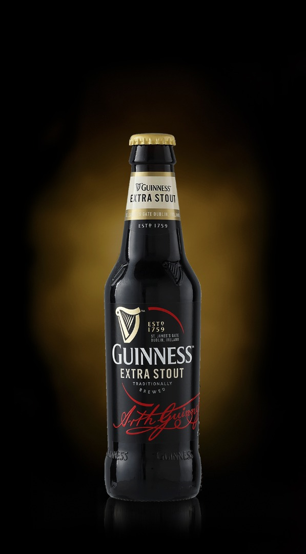 Bottle of Guinness Extra Stout