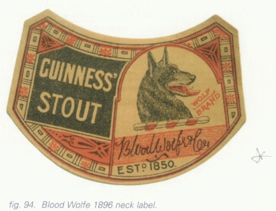 Guinness Singapore Red Dog label